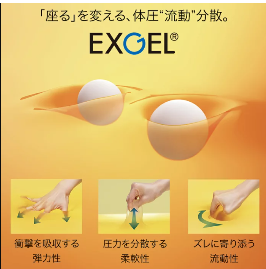 Gゼロクッションと類似品よりももっと腰痛対策かも日本製のEXGELミニプニ